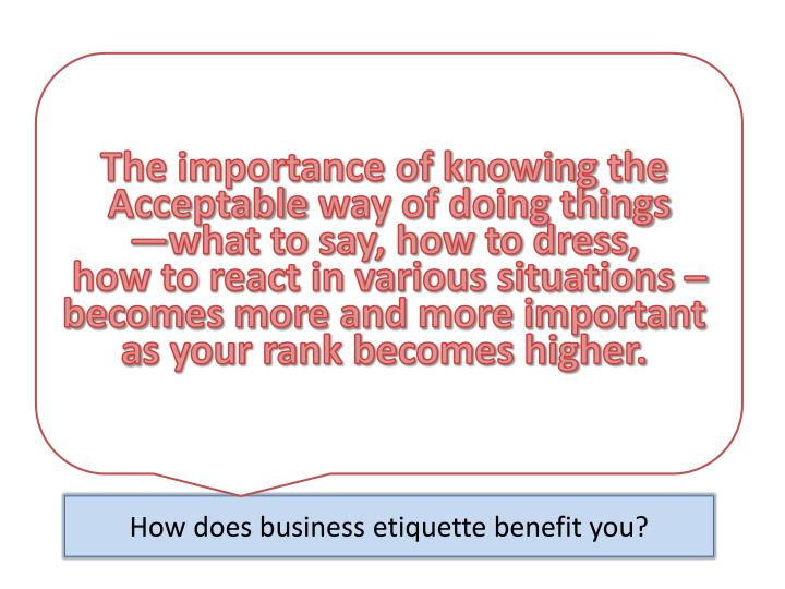 1. What is Business Etiquette?