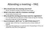 attending a meeting faq