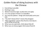 golden r ules of doing business with the chinese