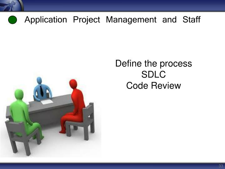 Application Project Management and Staff