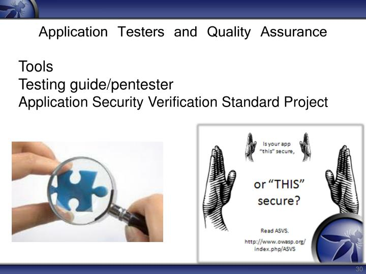 Application Testers and Quality Assurance