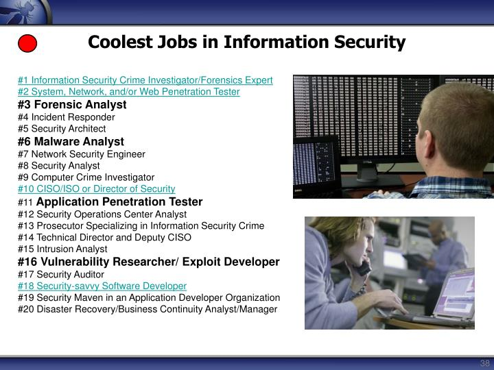Coolest Jobs in Information Security