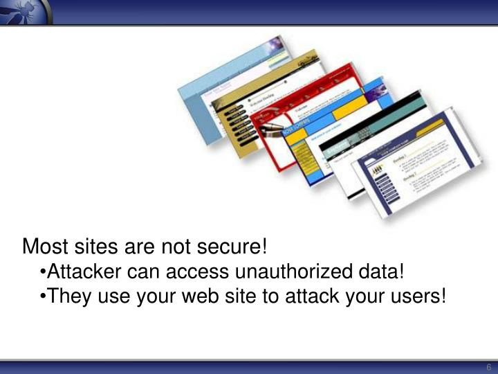 Most sites are not secure!
