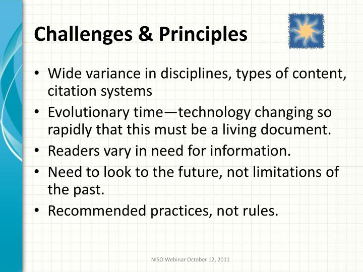 Challenges & Principles