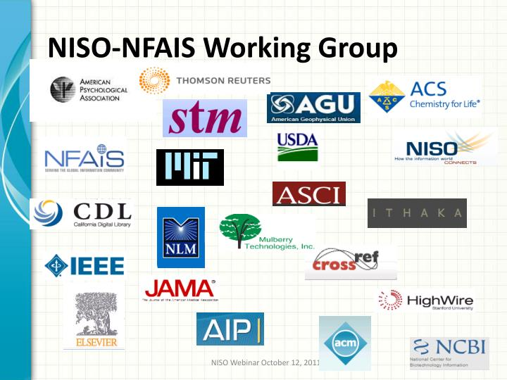 NISO-NFAIS Working Group