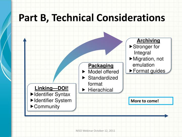 Part B, Technical Considerations