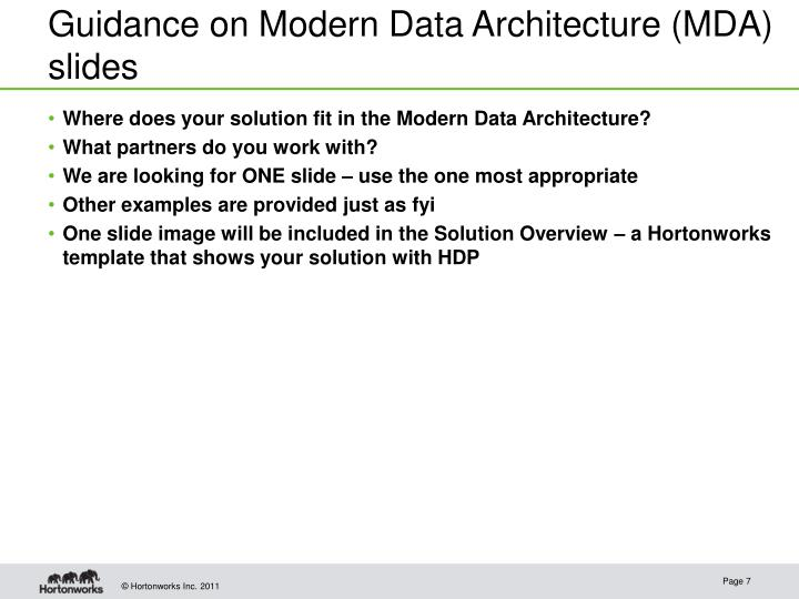Guidance on Modern