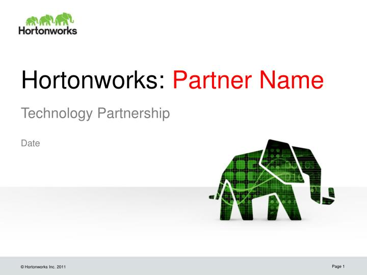 Hortonworks partner name