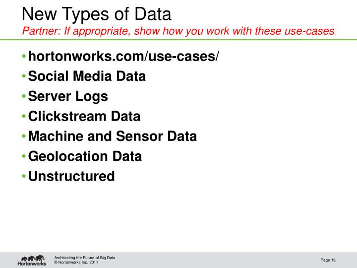 New Types of Data