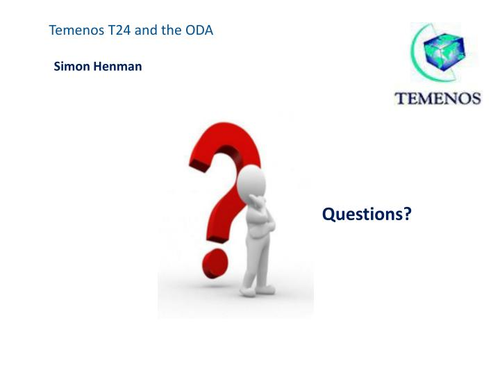Temenos T24 and the ODA