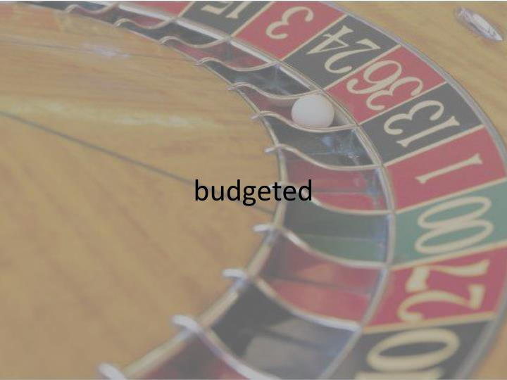 budgeted