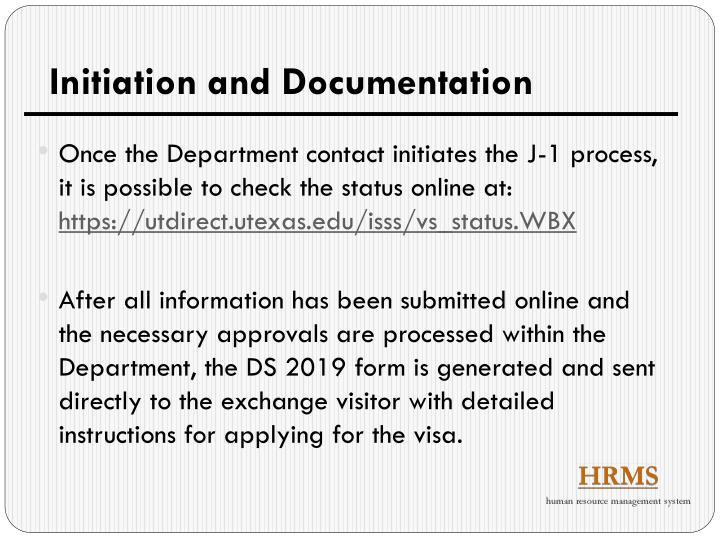 Initiation and Documentation