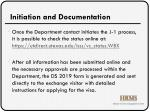 initiation and documentation