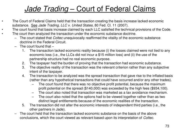 Jade Trading