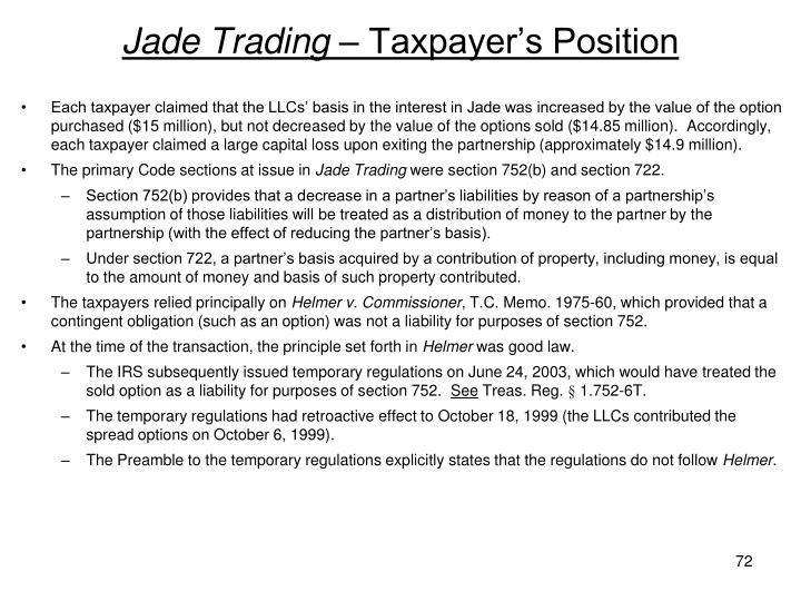 Jade Trading –