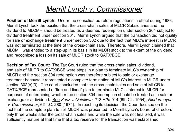 Merrill Lynch v. Commissioner
