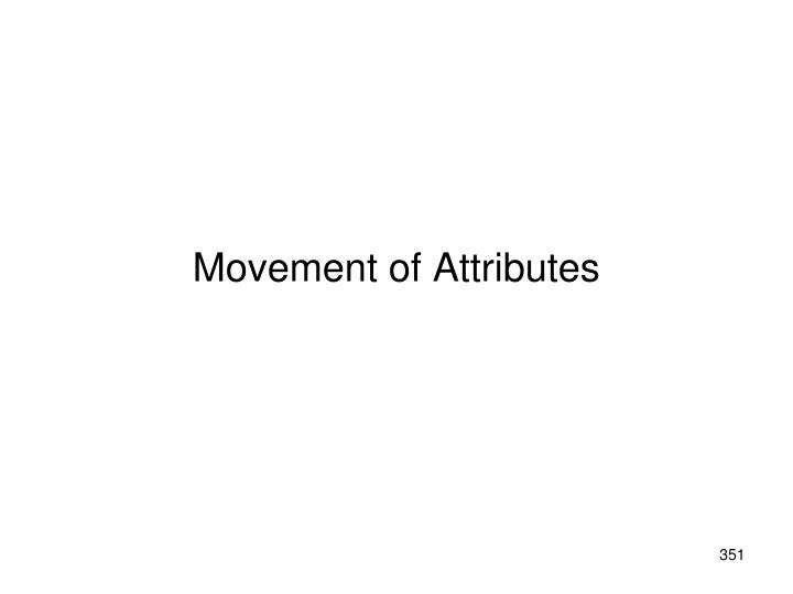 Movement of Attributes