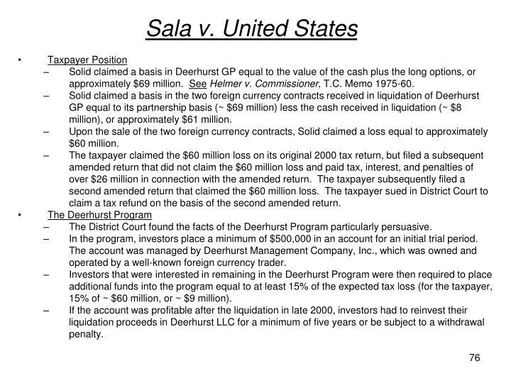 Sala v. United States