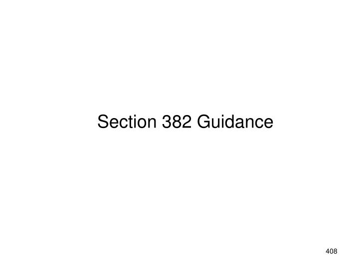 Section 382 Guidance