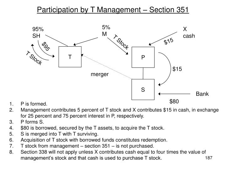 Participation by T Management – Section 351