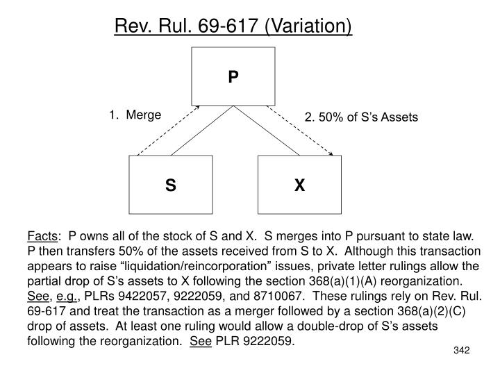 Rev. Rul. 69-617 (Variation)