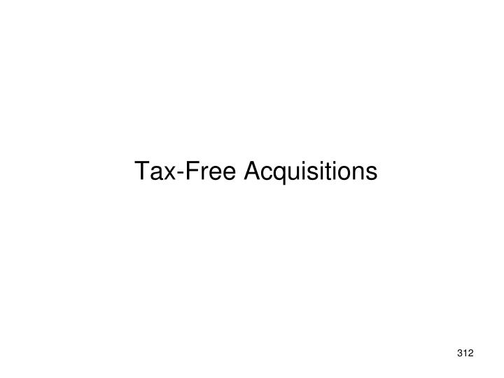 Tax-Free Acquisitions
