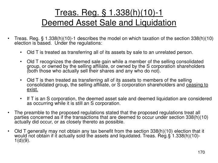 Treas. Reg. § 1.338(h)(10)-1