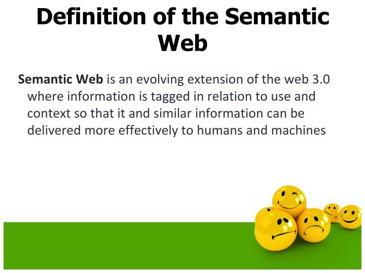 Definition of the Semantic Web