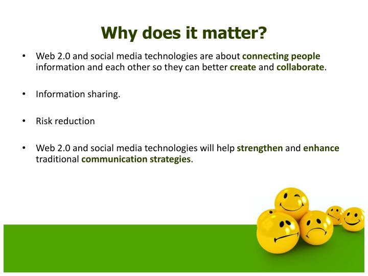 Web 2.0 and social media technologies are about