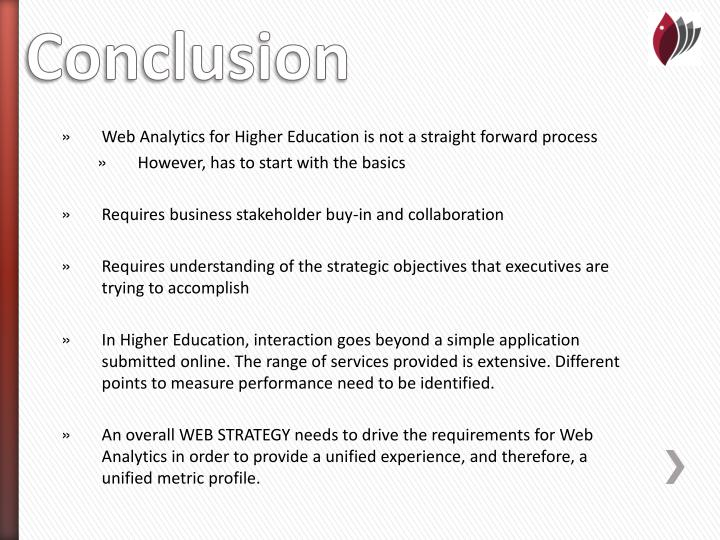 Web Analytics for Higher Education is not a straight forward process