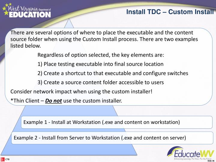 Install the TDC - Custom Options
