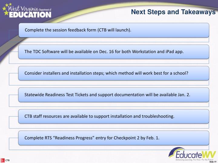 Next Steps/Takeaways