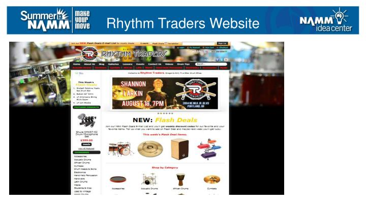 Rhythm Traders Website