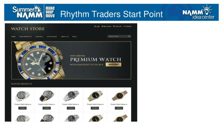 Rhythm Traders Start Point