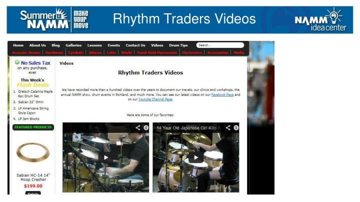 Rhythm Traders Videos