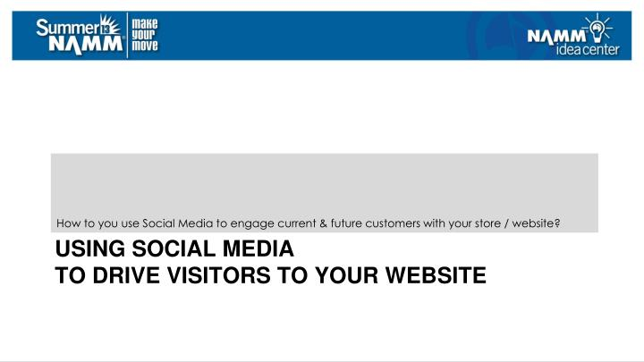 How to you use Social Media to engage current & future customers with your store / website?