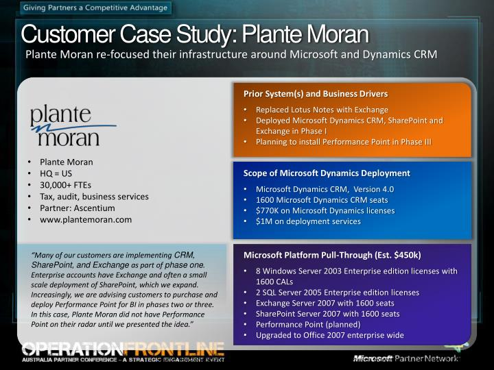 Customer Case Study: Plante Moran