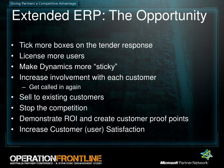 Extended ERP: The Opportunity