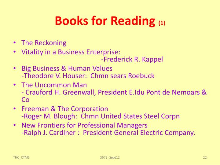 Books for Reading