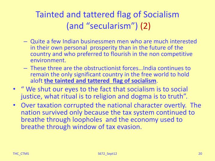 Tainted and tattered flag of Socialism