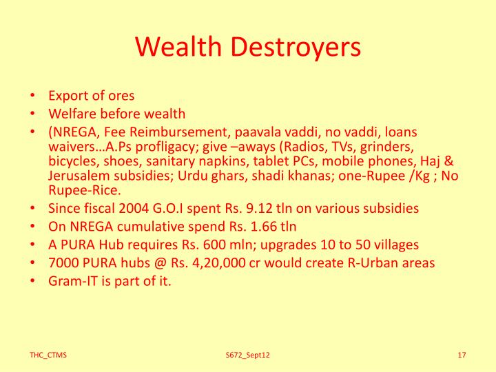 Wealth Destroyers