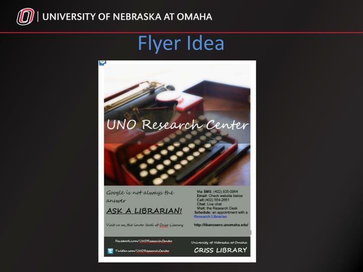 Flyer Idea