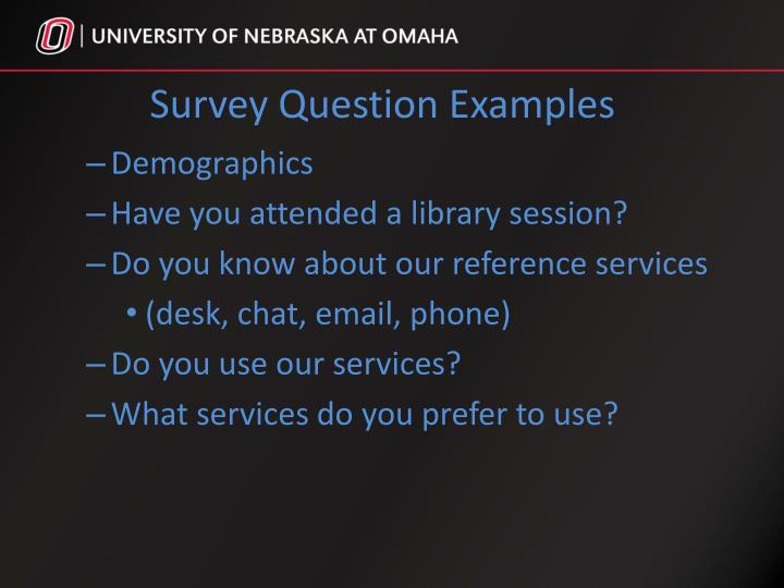 Survey Question Examples