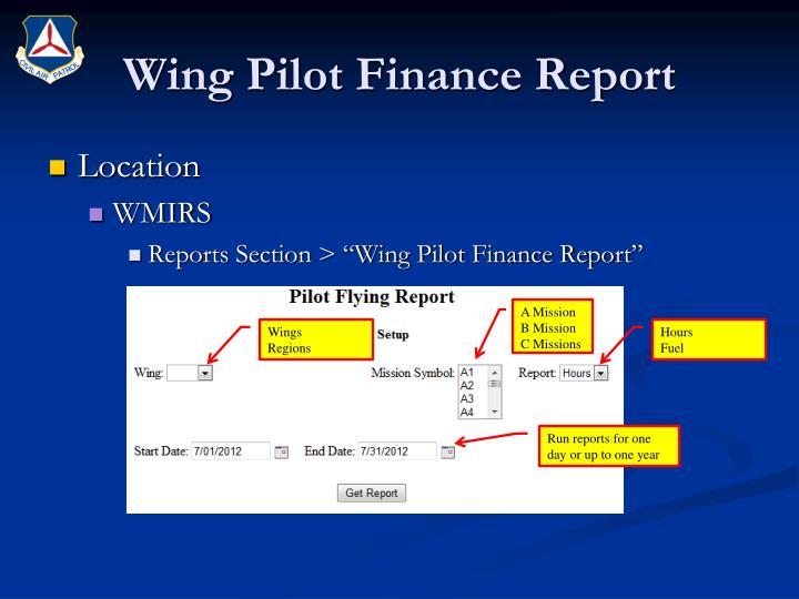 Wing Pilot Finance Report