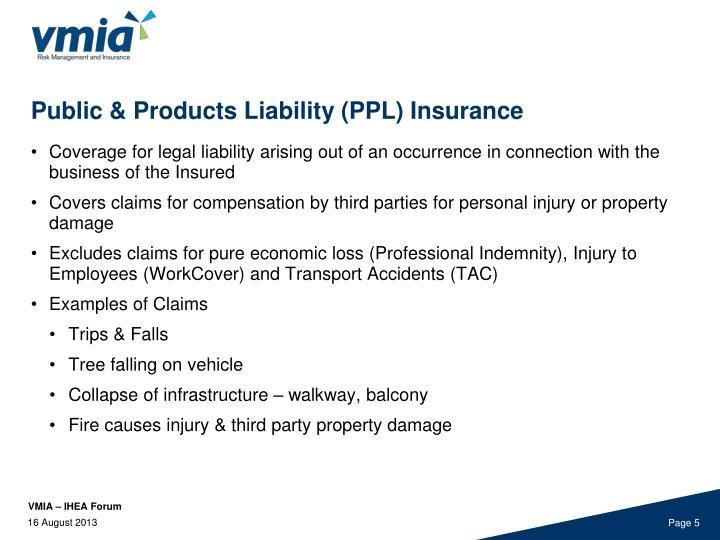 Public & Products Liability (PPL) Insurance