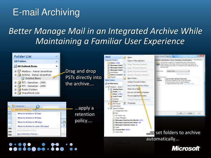 E-mail Archiving