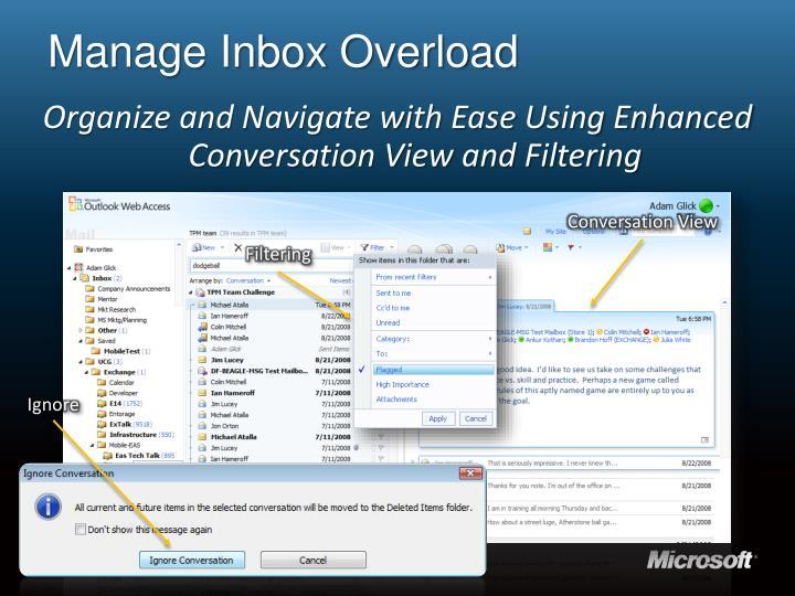 Manage Inbox Overload