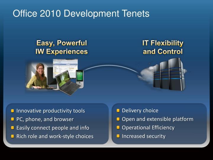 Office 2010 Development Tenets