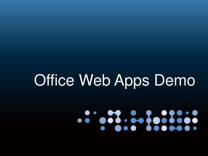 Office Web Apps Demo