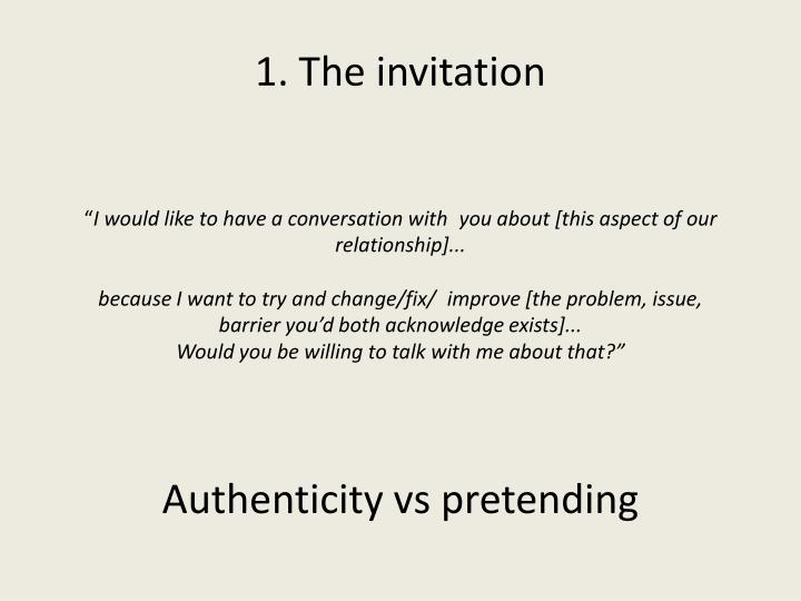 1. The invitation